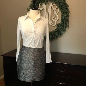 BCBGMAXAZRIA White button down shirt size medium